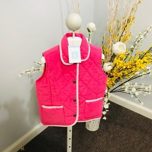 Bella Bliss Pink Cord Vest size 5